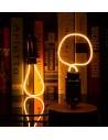 Пример свечения светодиодной филаментной лампы Geometric P E27 4W 2300K