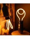 Пример свечения светодиодной филаментной лампы Geometric DO E27 4,5W 2300K