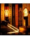 Пример свечения светодиодной филаментной лампы Geometric T E27 4,5W 2300K