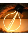 Пример свечения светодиодной филаментной лампы Geometric DR E27 8W 2300K