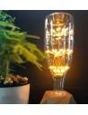Пример свечения светодиодной декор лампы Big Bottle Firework E27 3W 2200K