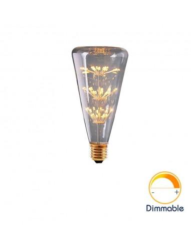 Светодиодная декор лампа Triangle Bottle Firework E27 3W 2200K