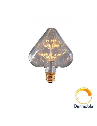 Светодиодная декоративная лампа Heart Firework E27 3W 2200K