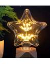 Пример свечения светодиодной декоративной лампы Star Firework E27 3W 2200K