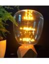 Пример свечения светодиодной декоративной лампы G145 Firework E27 3W 2200K