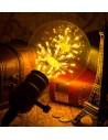 Пример свечения светодиодной декоративной лампы G125 Firework E27 3W 2200K