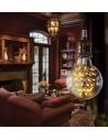 Пример свечения светодиодной декоративной лампы G95 Firework E27 3W 2200K