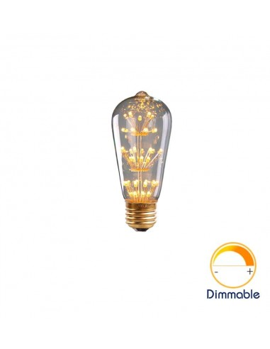 Светодиодная декоративная лампа ST64 Firework E27 3W 2200K