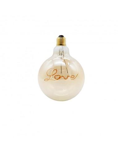 Светодиодная филаментная лампа G125 Design LOVE E27 4W 2200K
