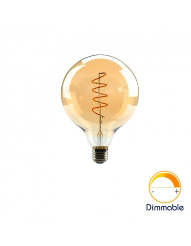 Светодиодная филаментная лампа G125 Vintage E27 4W 2200K