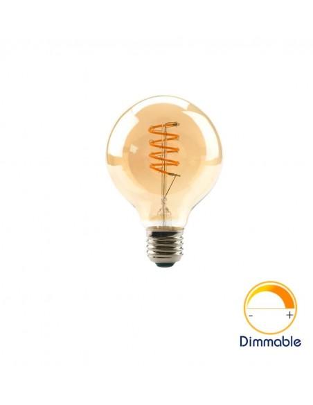 Светодиодная филаментная лампа G95 Vintage E27 4W 2200K