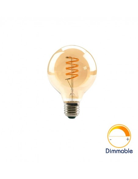 Светодиодная филаментная лампа G80 Vintage E27 4W 2200K
