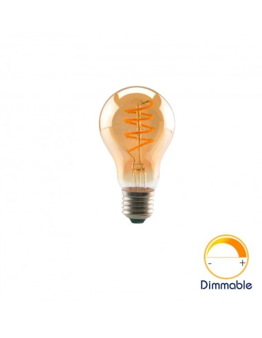 Светодиодная филаментная лампа A60 Vintage E27 4W 2200K