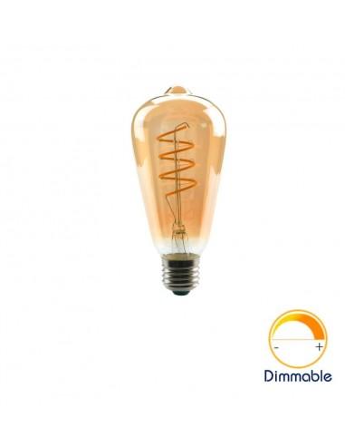 Светодиодная филаментная лампа ST64 Vintage E27 4W 2200K