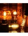 Пример свечения светодиодной филаментной лампы T45 Vintage E27 4W 2200K