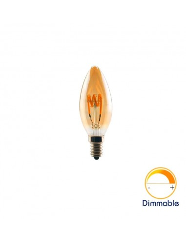 Светодиодная филаментная лампа C35 Vintage E14 4W 2200K