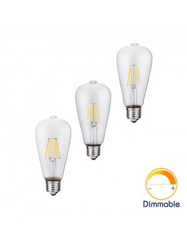 Светодиодная филаментная лампа ST64 Retro E27 4W 6W 8W