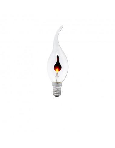 Светодиодная лампа мерцающая свеча C35L Flicker Candle E14 3W