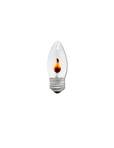Светодиодная лампа мерцающий огонь C35 Flicker Fire E27 3W