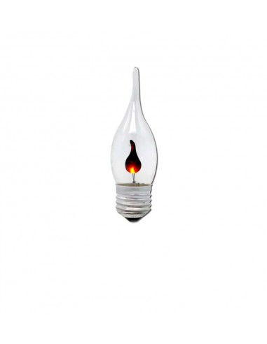 Светодиодная лампа мерцающая свеча C35L Flicker Candle E27 3W