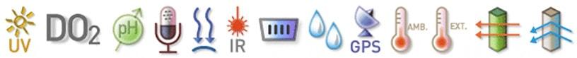 Сенсоры встроенные в ЛабДиск Enviro